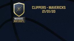 Clippers - Mavericks 21/01/20