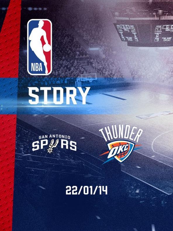 NBA: S. Antonio - Oklahoma City 22/01/14