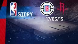 LA Clippers - Houston 17/05/15. Playoff Gara 7