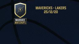 Mavericks - Lakers 25/12/20