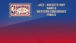 Jazz - Rockets 1997. Game 6. Western Conference Finals