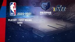 Memphis - Utah. Playoff - First Round. Gara 4