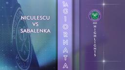 Niculescu - Sabalenka. 1a g.