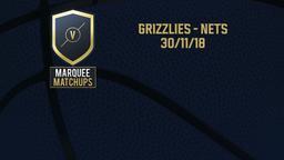 Grizzlies - Nets 30/11/18