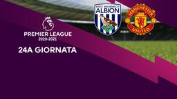 West Bromwich Albion - Manchester United. 24a g.