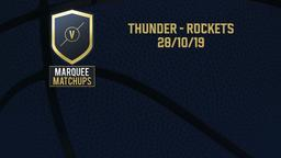 Thunder - Rockets 28/10/19