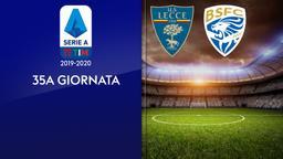 Lecce - Brescia. 35a g.