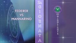 Federer - Mannarino. 2a g.