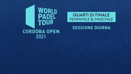Cordòba Open: Quarti F/M Sessione diurna