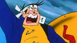 Il terrificante lancio a testa in giù di Tetsudan