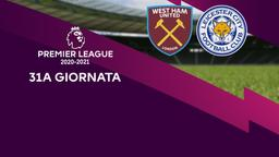 West Ham United - Leicester. 31a g.