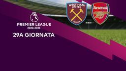 West Ham United - Arsenal. 29a g.