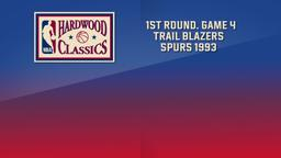 Trail Blazers - Spurs 1993. 1st Round. Game 4