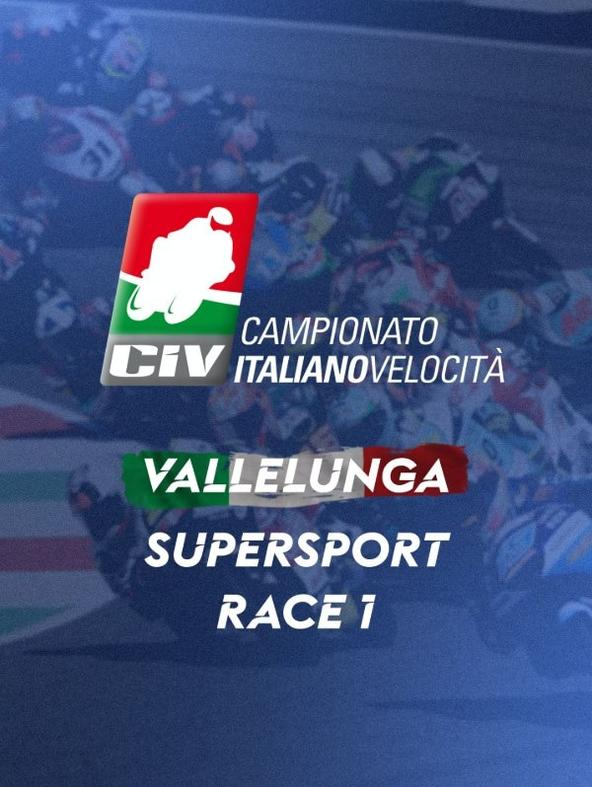 Supersport Vallelunga. Race 1