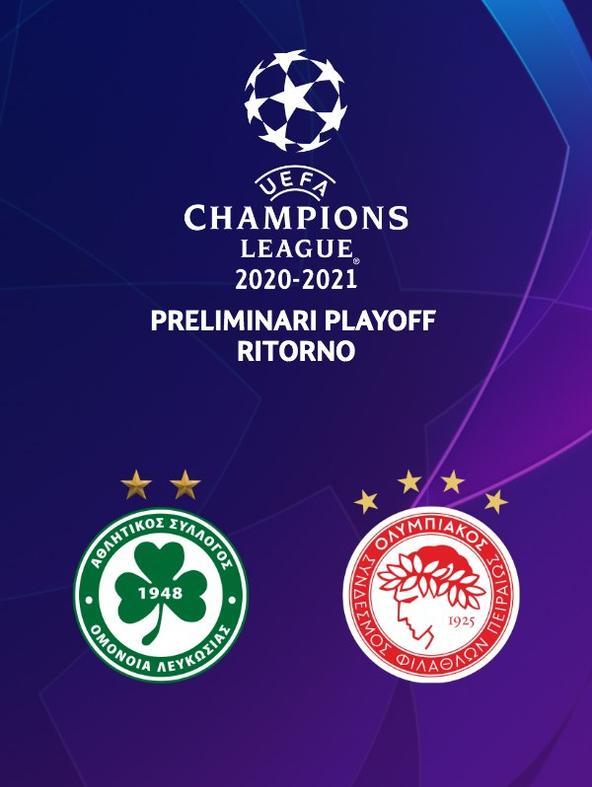 Omonia - Olympiacos. Preliminari Playoff Ritorno (diretta)