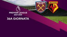 West Ham United - Watford. 36a g.