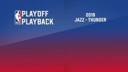 2018: Jazz - Thunder. 1st Round. Game 5