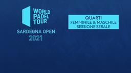 Sardegna Open: Quarti F/M Sessione serale