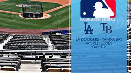 LA Dodgers - Tampa Bay. World Series Game 2
