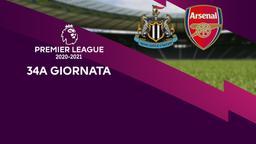 Newcastle - Arsenal. 34a g.