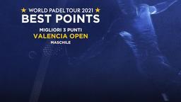 Migliori 3 punti Valencia Open Maschile