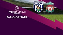 West Bromwich Albion - Liverpool. 36a g.
