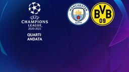 Manchester City - Borussia Dortmund. Quarti Andata