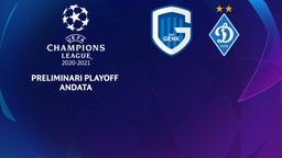 Gent - Dinamo Kiev. Preliminari Playoff Andata