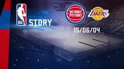 Detroit - LA Lakers 15/06/04. Finale Gara 5