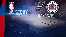 San Antonio - LA Clippers 02/05/15. Gara 7