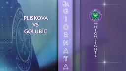 Pliskova - Golubic