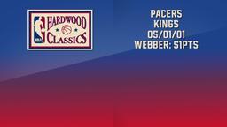 Pacers - Kings 05/01/01 Webber: 51pts