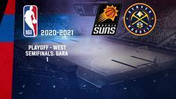 Phoenix - Denver. Playoff - West Semifinals. Gara 1