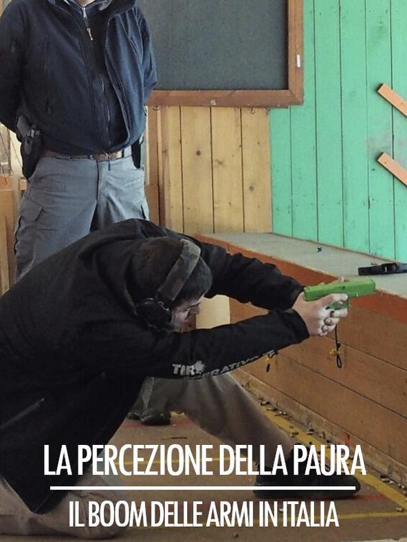 La percezione della paura - Il boom delle armi in Italia