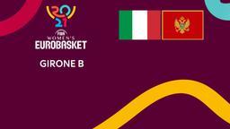 Italia - Montenegro. Girone B