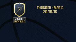 Thunder - Magic 30/10/15