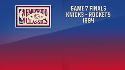 Knicks - Rockets 1994. Game 7. Finals