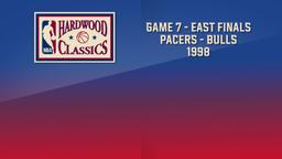 Pacers - Bulls 1998. Game 7. East Finals