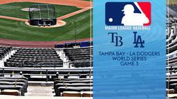 Tampa Bay - LA Dodgers. World Series Game 3