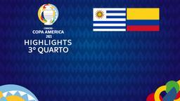 Uruguay - Colombia. 3° quarto