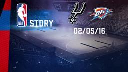 San Antonio - Oklahoma City 02/05/16. West. Conf, Semifinals Gara 2