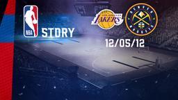 L.A. Lakers - Denver 12/05/12. Playoff Gara 7