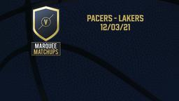Pacers - Lakers 12/03/21