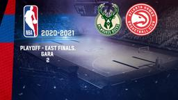Milwaukee - Atlanta. Playoff - East Finals. Gara 2