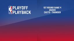 2020: Rockets - Thunder. 1st Round. Game 4