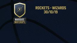 Rockets - Wizards 30/10/19