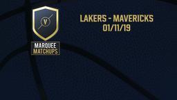 Lakers - Mavericks 01/11/19