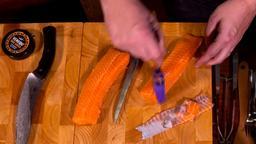 Salmone e daikon