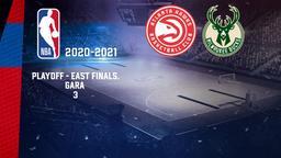 Atlanta - Milwaukee. Playoff - East Finals. Gara 3