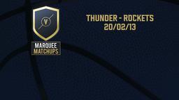 Thunder - Rockets 20/02/13